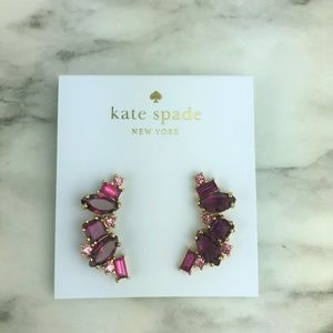 Kate Spade Berry Multi Cluster Crawler Goldtone